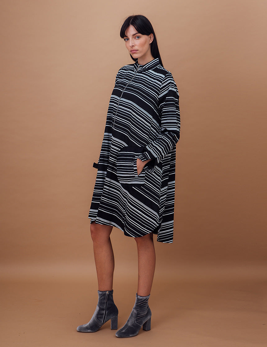 TRENCH DRESS - Twotone