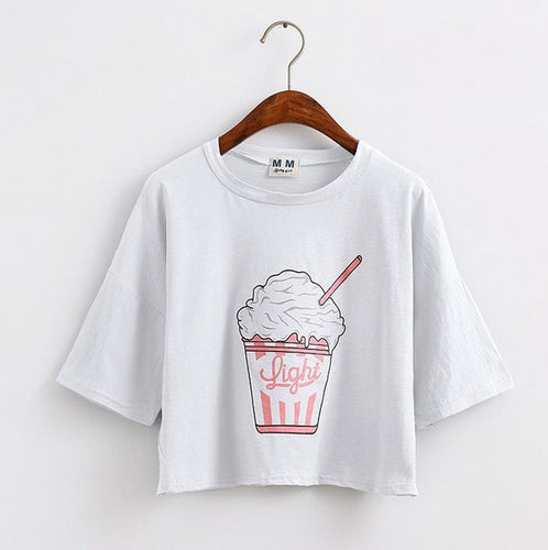 T-shirt Fashion · glace blanc · Nomwa