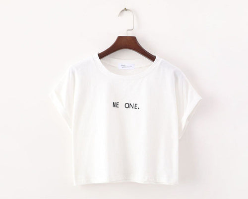 T-shirt Fashion · Me One Blanc · Nomwa