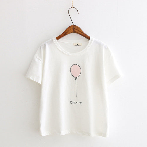 T-shirt Fashion · Ballon blanc  · Nomwa