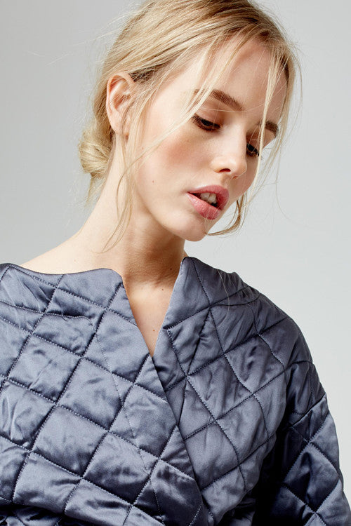 Blue marmalade luxury quilted kimono