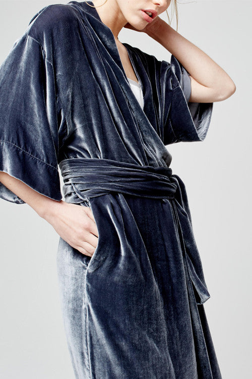 blue marmalade luxury dressing gown