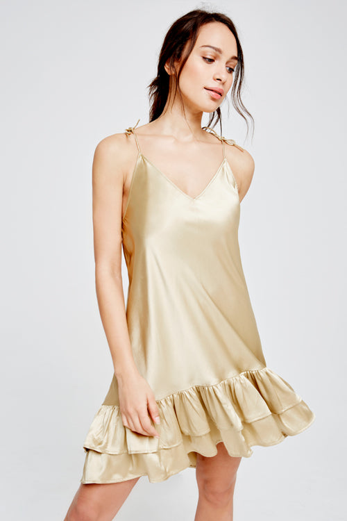 Coco Silk Chemise Gold