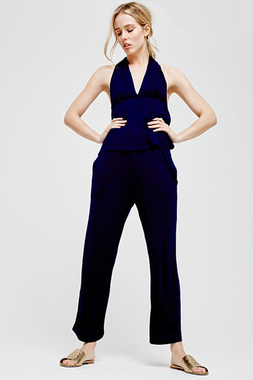 Blue Marmalade Halter Neck Pyjama Set