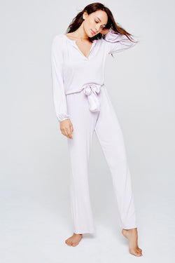 Blue Marmalade Silk Trim Pyjama Set