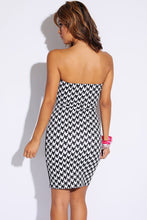 Houndstooth Fitted Club Mini Dress