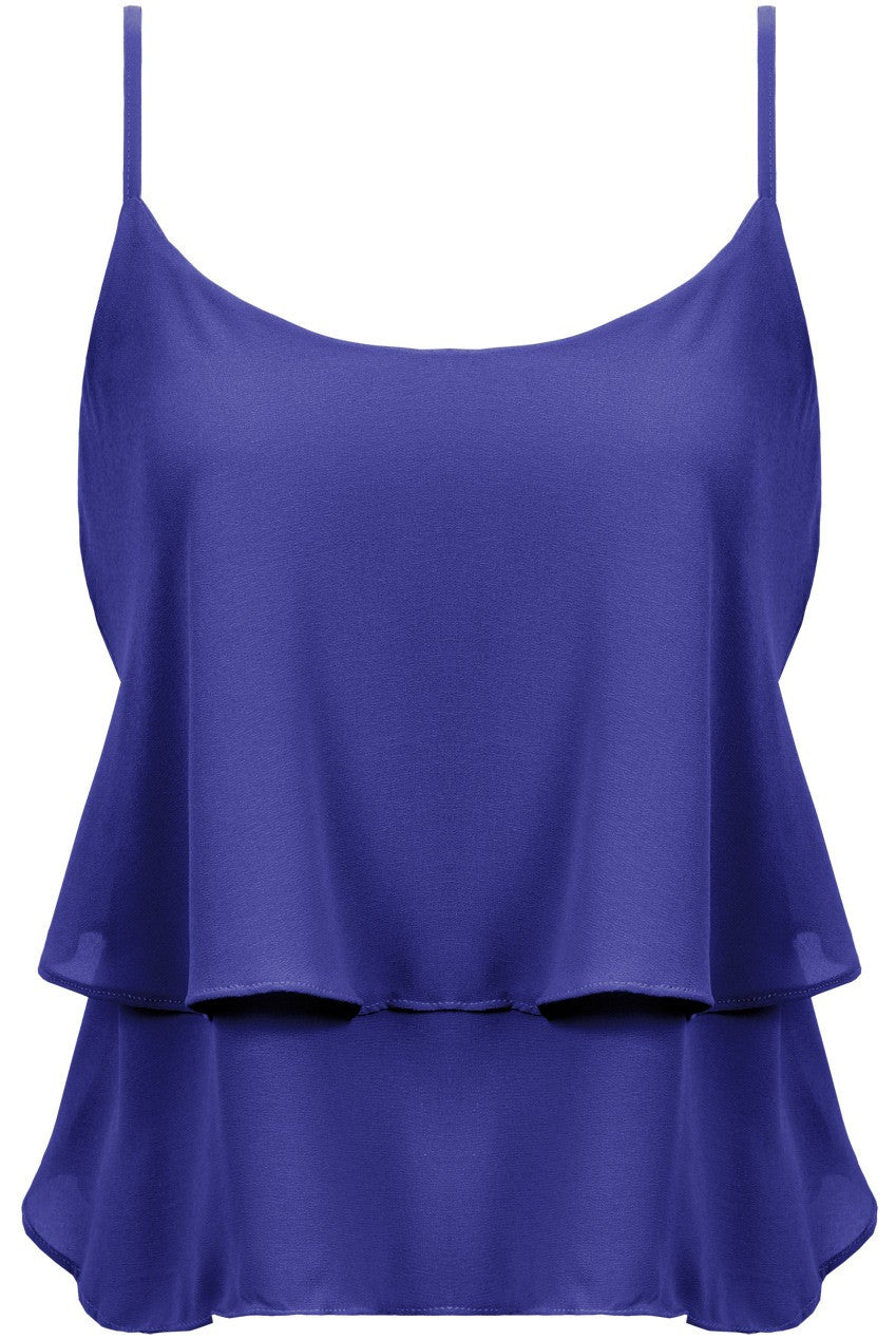 Navy Sleeveless Ra Ra Top