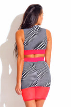 Neon Coral Mesh Two Piece Set