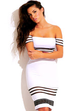 White Stripe Two Piece Set