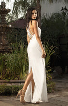 Strappy Back White Maxi Dress