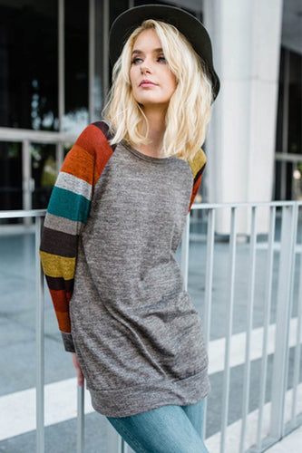 Multi-Coloured Long Sleeve Top