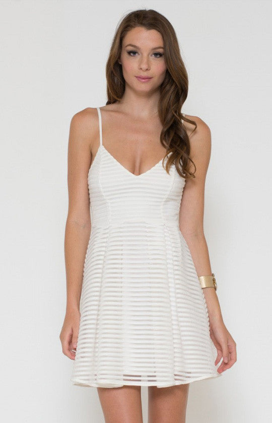 Pleated Skater Dress