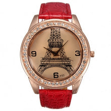 Eiffel Tower Watch red With Crystals