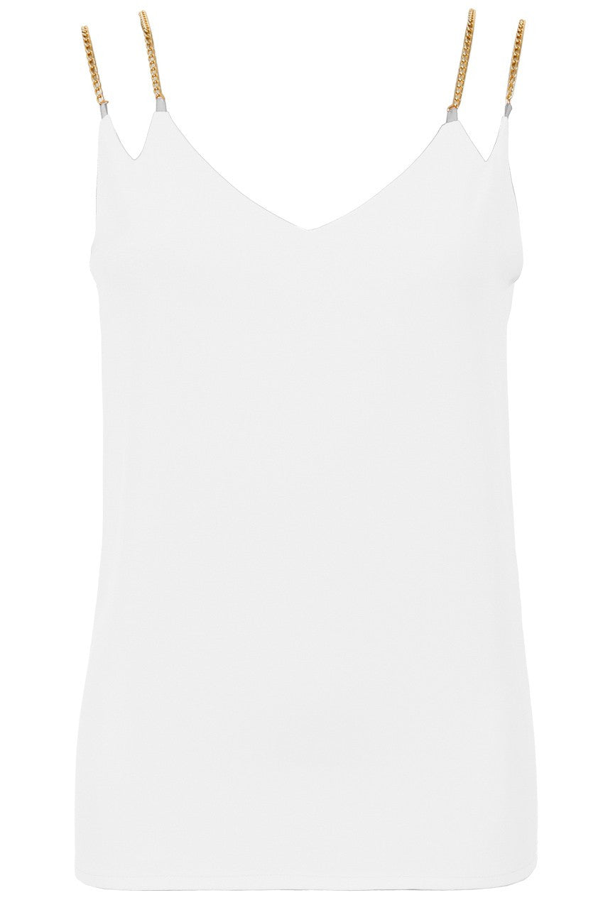 White Double Chain Sleeveless Top