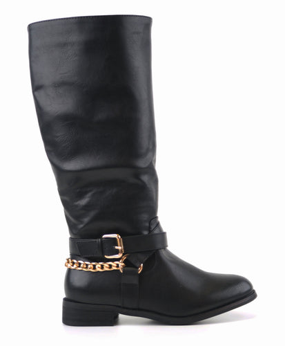 Black Boots with chains