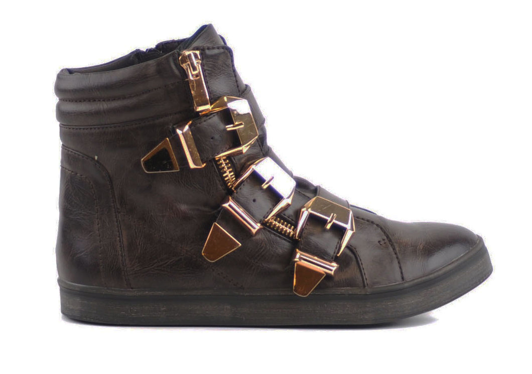 Brown Three Buckle Trainers