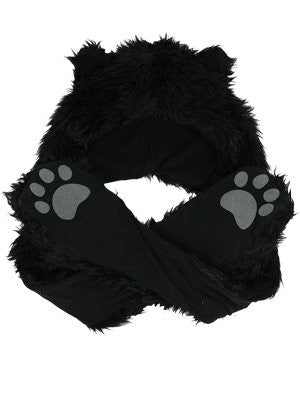 Black Panther Hat and scarf with gloves