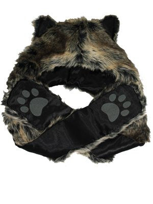 Fox Faux Fur Hat and scarf with gloves