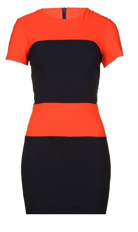 Navy Orange Dress