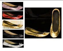 Gold Roll Up Pumps