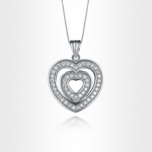 Heart Shaped Pendant Necklace SWAROVSKI Crystlas