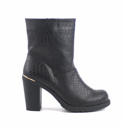 Black Snake leather look boots