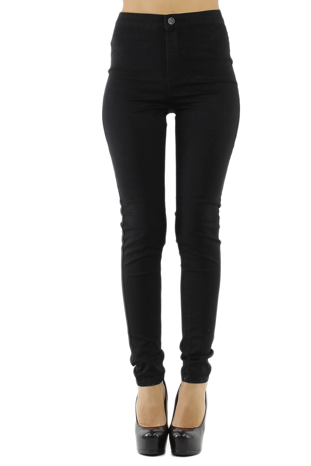 Black High Waist Supper Skinny Jeans