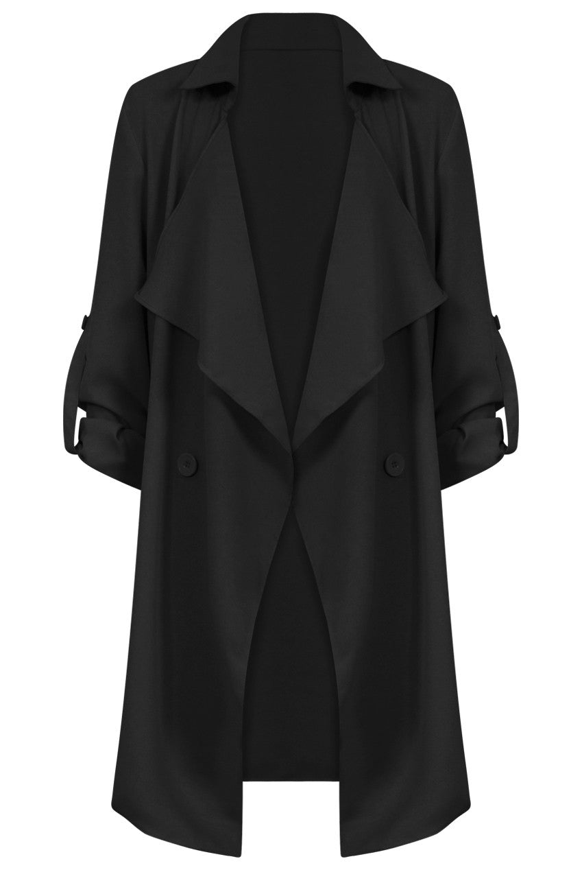 Black Waterfall Coat