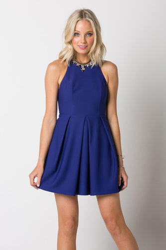 Halter Dress with Low Back