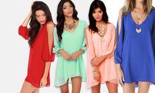 Slit-Sleeved Summer Dress
