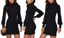 Turtleneck Ribbed Dress