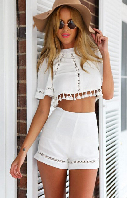 Crop Top Playsuit