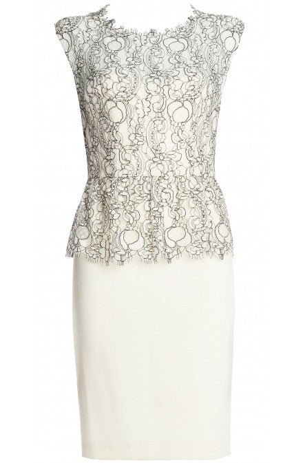LUXE Lace Peplum Dress