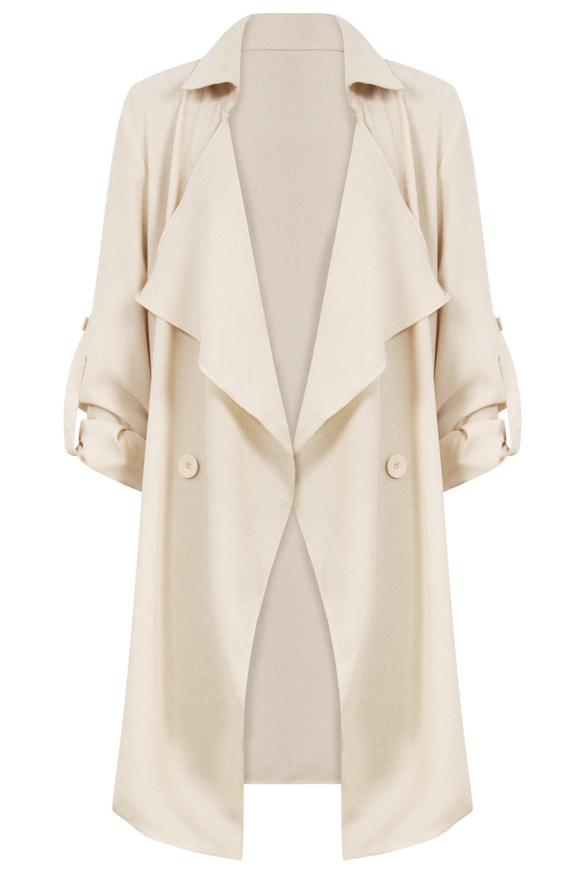 Cream Waterfall Coat