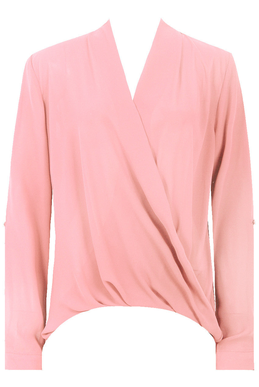 Cross Over Blouse Rose