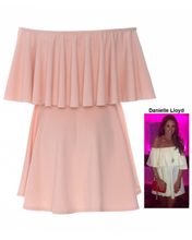 Celeb Off Shoulder Frill Dress
