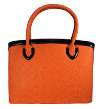 Orange and Black Handbag