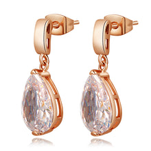 Elegant gold plated drop earrings