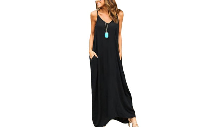 Oversized Strappy Maxi Dress
