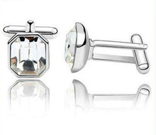 Cufflinks with Clear SWAROVSKI CRYSTAL