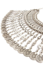 Gypsy Silver Statement Necklace