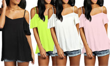 Women's Strappy Cold-Shoulder Top