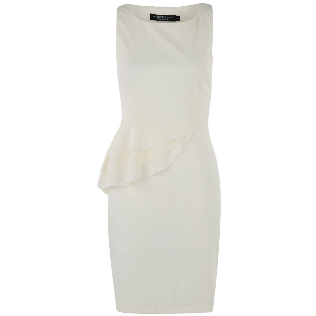 Summer Peplum Dress White