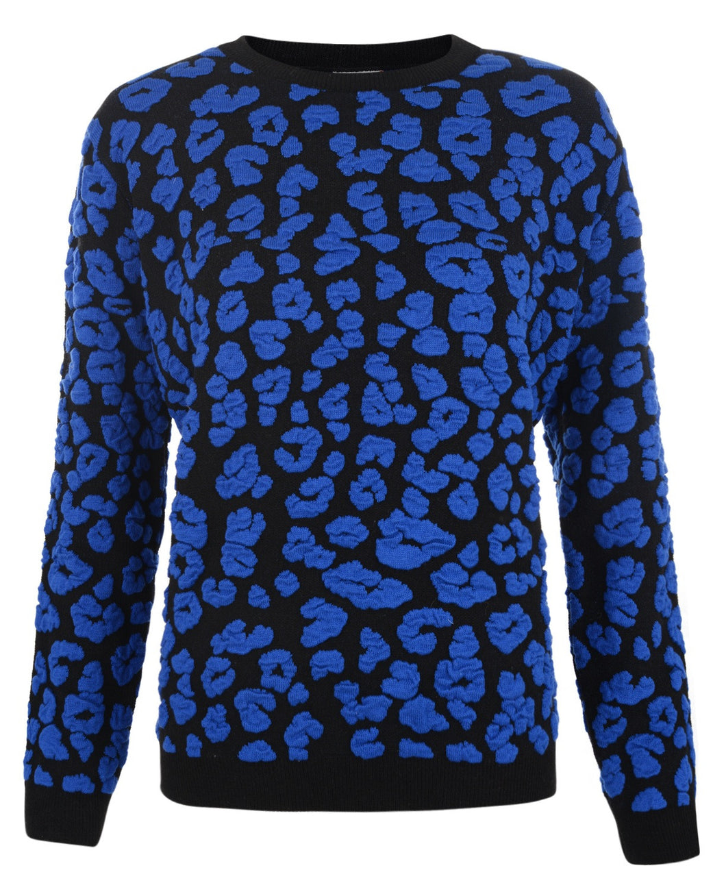 3D PATTERN JUMPER BLUE