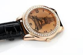 Eiffel Tower Watch Black With Crystals