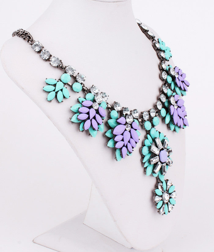 Statement Necklace Purple