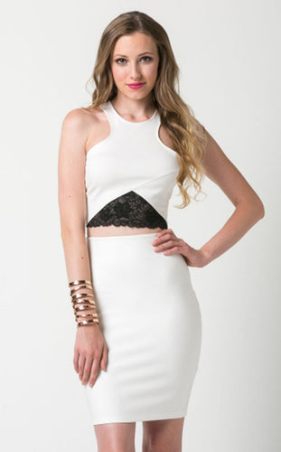 Ivory Crop Top With Lace