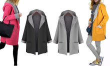 Contrast Hooded Coats