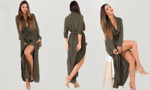 Belted Shirt Maxi Dress