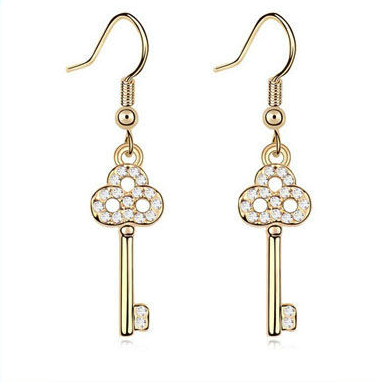 SWAROVSKI Crystal key Earrings Clear